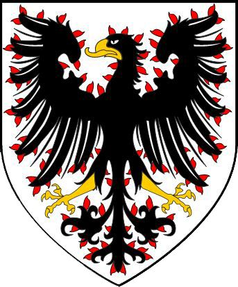 Czechia the heart of Europe | History - Original Přemyslid coat of arms - flamy eagless (Dutchy of Bohemia)