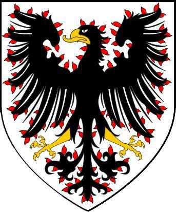 Czechia the heart of Europe | History - Original Přemyslid coat of arms - flamy eagless (Dutchy of Bohemia)