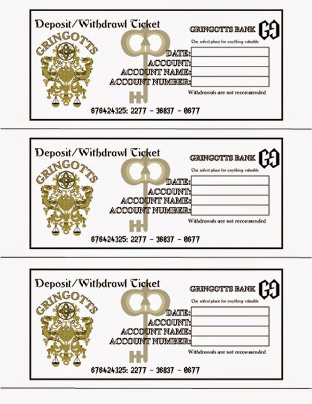 "A Crafty Chick: Diagon Alley - Gringotts Wizarding Bank (Using this to dish out ""travel allowance"" to the little guy for our trip to the Wizarding World of Harry Potter!) Each day we are in the park he gets a new slip envelope and cash. Teaching Budgeting on vacation!"