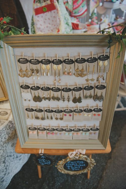 Chalkboard price signs and Die-cut earring holders