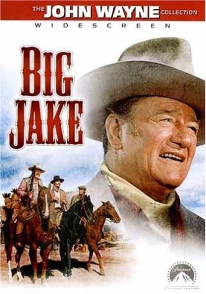 Big Jake (1971) John Wayne stars as Jacob McCandles, a rough-and-tumble rancher who's estranged from his wife (Maureen O'Hara). But when a cutthroat gang led by Richard Boone kidnaps his grandson, Big Jake gets the call to rescue him. Patrick Wayne (John Wayne's real-life son) and Chris Mitchum (Robert Mitchum's son) co-star as Jake's grown boys, who accompany him on the long trek that can end only one way -- with the death of the abductors. John Wayne, Richard Boone, Maureen O'Hara...TS…