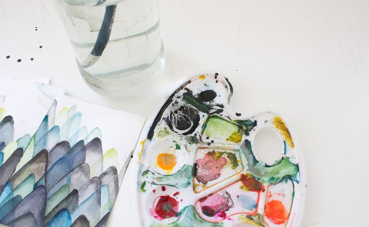 The process - watercolour illustrations by Pencilheart Art on Behance