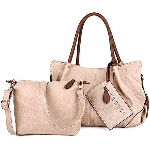 UTO Women Handbag Set 3 Pieces Bag PU Leather Tote Small ...