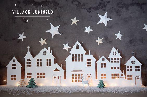 DIY : Village lumineux de Noël: