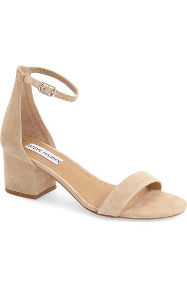 Free shipping and returns on Steve Madden 'Irenee' Ankle Strap Sandal (Women) at Nordstrom.com. Lush suede extends the vintage sophistication of a block-heel sandal completed with a slim ankle strap.