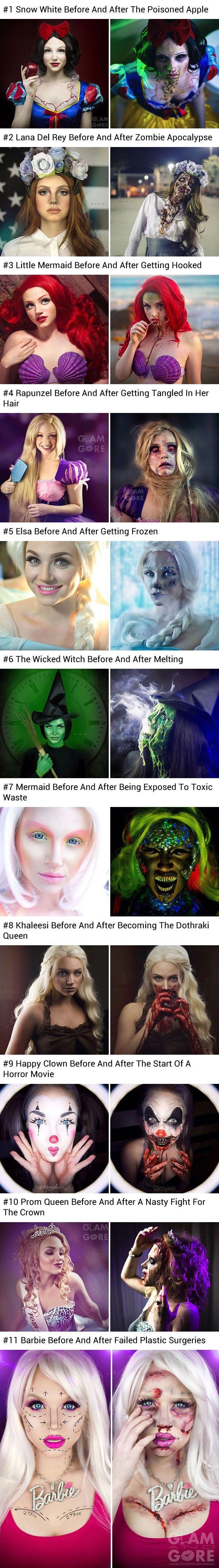 Makeup artist shows horrifying fate of Disney princesses