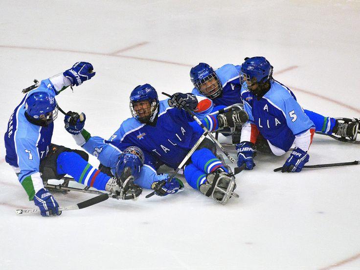 La squadra italiana di Hockey su ghiaccio