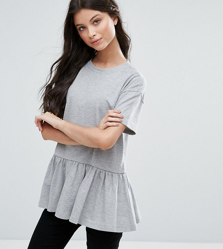 Get this Asos Petite's basic top now! Click for more details. Worldwide shipping. ASOS PETITE Casual Smock Top - Grey: Petite top by ASOS PETITE, Soft-touch jersey, Crew neck, Dropped shoulders, Peplum hem, Smock style, Oversized fit - falls generously over the body, Machine wash, 57% Cotton, 43% Polyester, Our model wears a UK 8/EU 36/US 4. 5�3�/1.60m and under? The London-based design team behind ASOS PETITE take all your fashion faves and cut them down to size. Say goodbye to all your ...