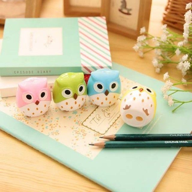 Never have a dull moment with these adorable owl pencil sharpeners!  Only $3 each at owlness.com!