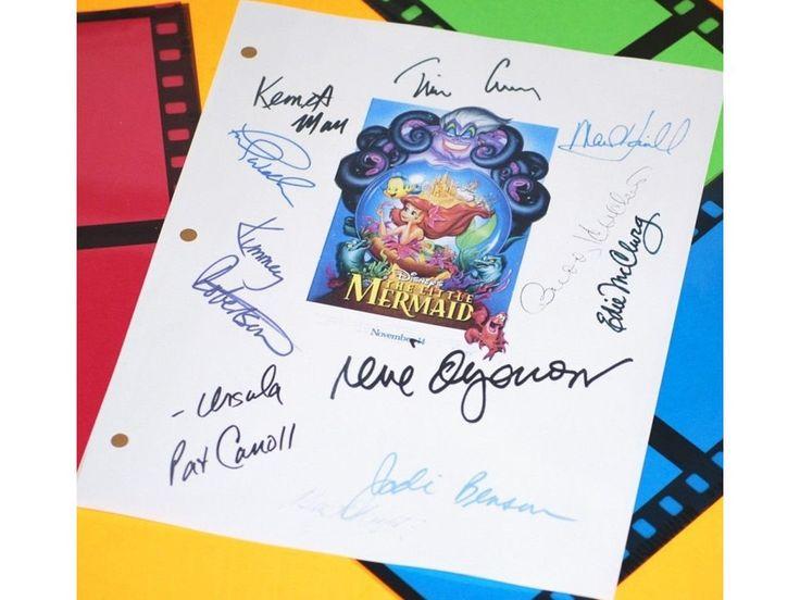 The Little Mermaid Disney Movie Script Signed, Jodi Benson, Rene Auberjonois, Buddy Hacket and more