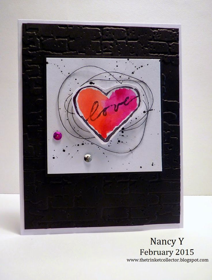 Valentine's Day Card ~ Just For Fun Rubber Stamps