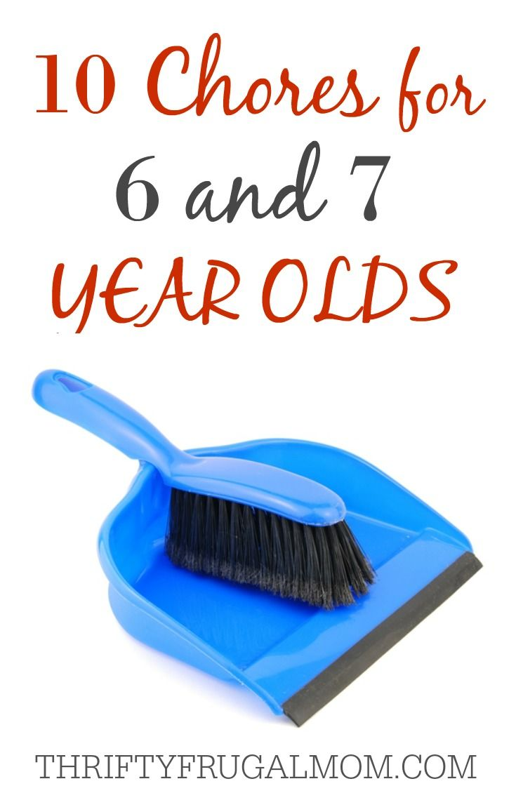 Chores for 6 & 7 Year old- these jobs a great way to teach a child responsibility and life skills