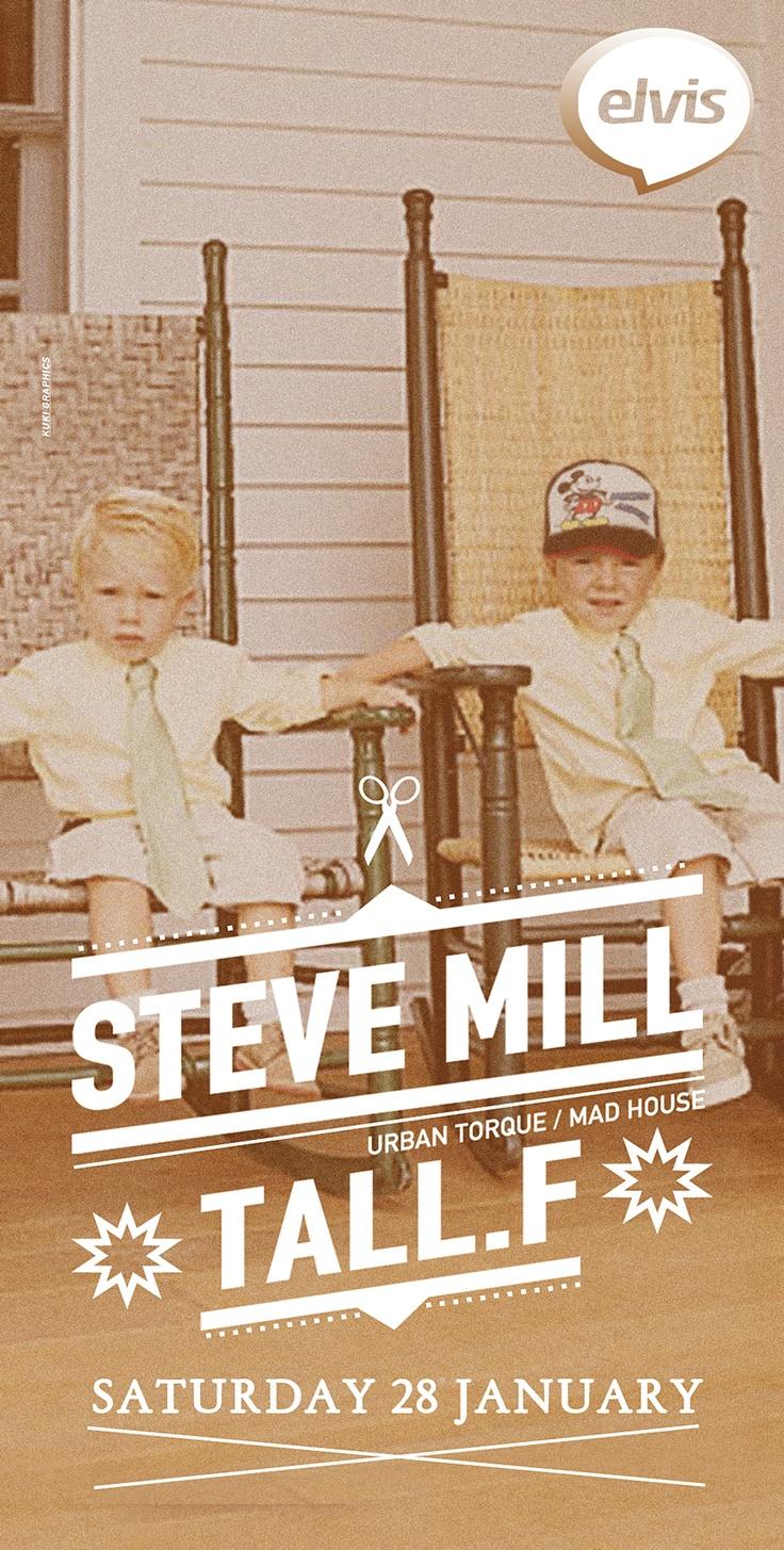 Poster design / Steve mill (http://www.residentadvisor.net/dj/stevemill)  by http://kuki.im/