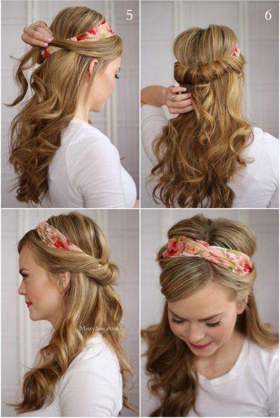Vyskúšaj si urobiť krásny romantický účes s čelenkou - návod ...