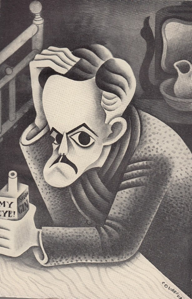 Miguel Covarrubias caricature of Eugene O'Neill 1928