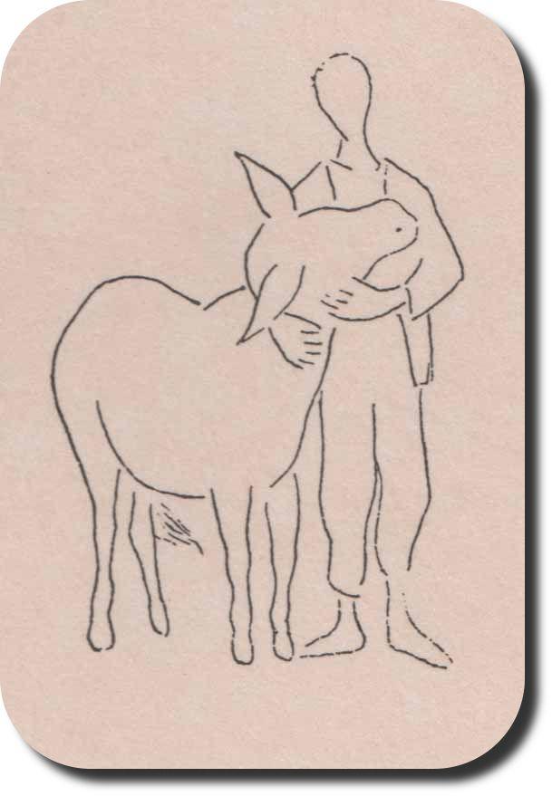 Platero por Baltasar Lobo. Dibujante y escultor español. Realizó las ilustraciones para la traducción inglesa de Platero y yo.