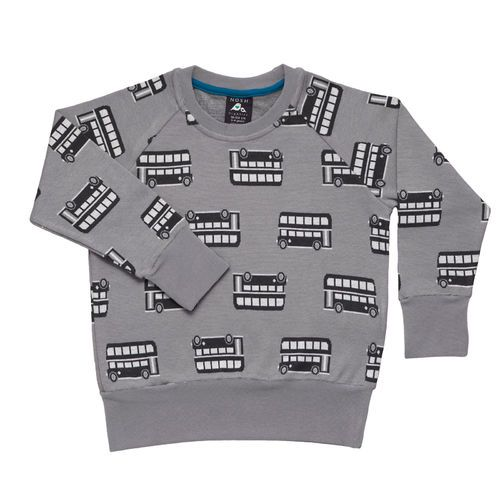 Trendy Sweatshirt made of organic Jacquard knit with trendy Double-decker design.