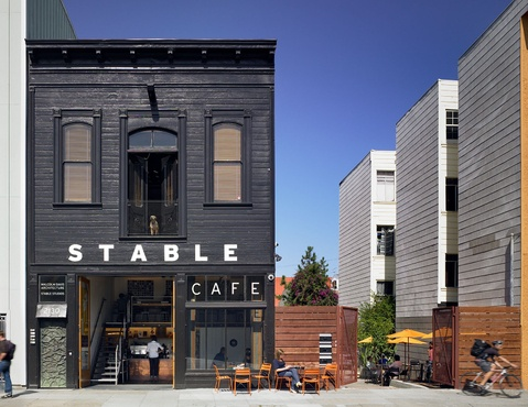 Davis and Lackey: Stable Cafe  A historic 19th century carriage house on Folsom Street that once housed the mayor's horses has since been transformed into Stable, a high-design home and Cafe.