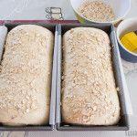 Heerlijk brood vol met havervlokken en een beetje honing. Ook geroosterd erg lekker!
