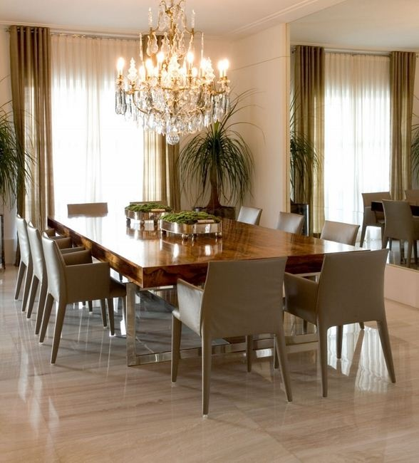 Dining Room   Beautiful Dining Set And Chandelier   Love The Mirror