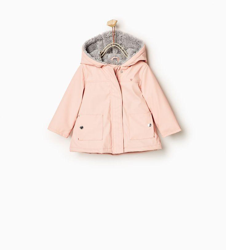 Fleecy raincoat-OUTERWEAR-Baby girl-Baby   3 months - 3 years-KIDS   ZARA United States