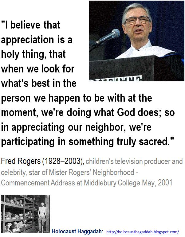 "Fred Rogers - I believe that appreciation is a holy thing, that when we look for what's best in the person we happen to be with at the moment, we're doing what God does. > ""I'm a Christian first and a mean-spirited, bigoted conservative second, and don't you ever forget it."" -  Anne Coulter >  ""The Christian god is a being of terrific character - cruel, vindictive, capricious, and unjust"" Thomas Jefferson > ""Belief in a cruel, evil God makes a cruel man"" - Thomas Paine. > > > Click image!"