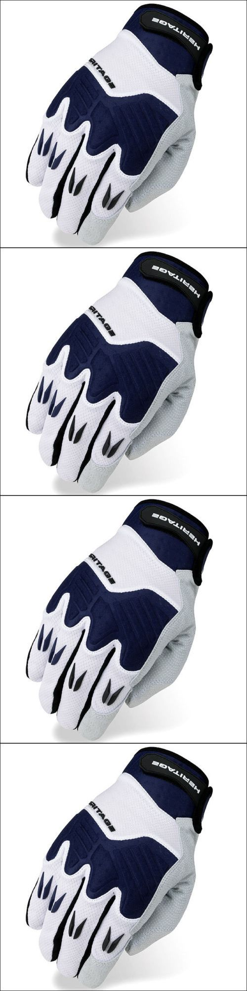 Riding Gloves 95104: 11 Size Heritage Polo Pro Horse Riding Equestrian Padded Glove White Navy -> BUY IT NOW ONLY: $36.99 on eBay!