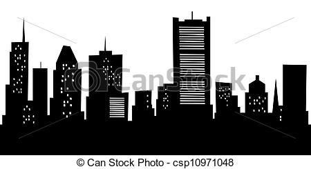 Cartoon Montreal Skyline - csp10971048