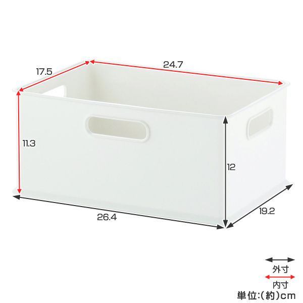 【楽天市場】収納ボックス 収納ケース squ+ インボックス S ( 小物入れ 収納 カラーボックス インナーボックス 横置き おもちゃ箱 プラスチック コンテナ 積み重ね スタッキング 小物収納 インナーケース ):リビングート 楽天市場店