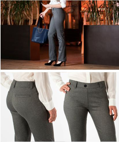652429c8ced58 Straight-Leg Herringbone Dress Pant Yoga Pants   Betabrand in 2019    Fabulous Fashion   Dress yoga pants, Office yoga pants, Yoga pants