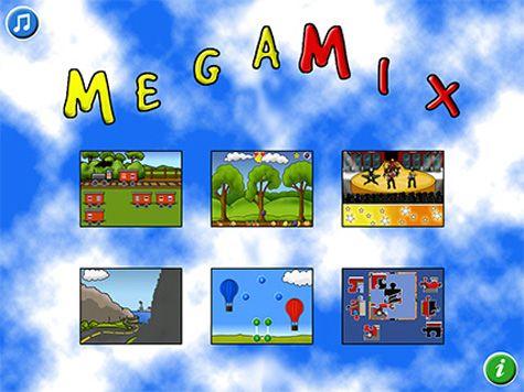 MegaMix är en samling med 8 olika pedagogiska barnspel som lämpar sig för barn mellan 3 och 8 år.