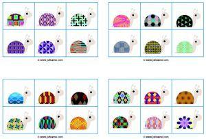 loto escargots, discrimination visuelle