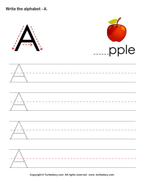 Upper and Lower case letter writing practice