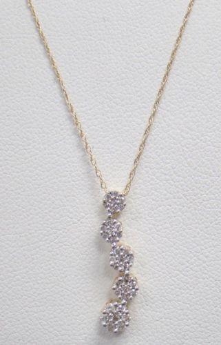 189 best diamond necklaces pendants images on pinterest diamond 10k yellow gold journey pendant 1 4 ct aloadofball Image collections