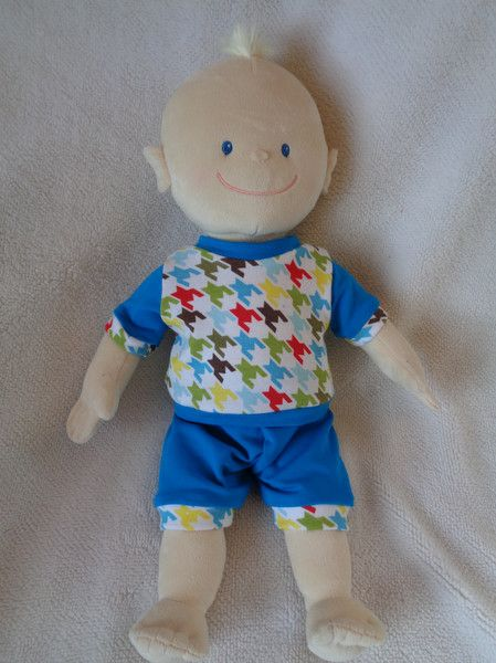 Puppenkleidung - Sommer - Set Baby Born Krümel  Puppen Gr. 43  - ein Designerstück von Elmisemas-Zaubernadel bei DaWanda