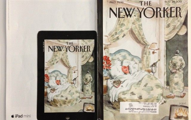 Apple's latest print ads for the iPad Mini cleverly show off what the reading experience is like on the device.