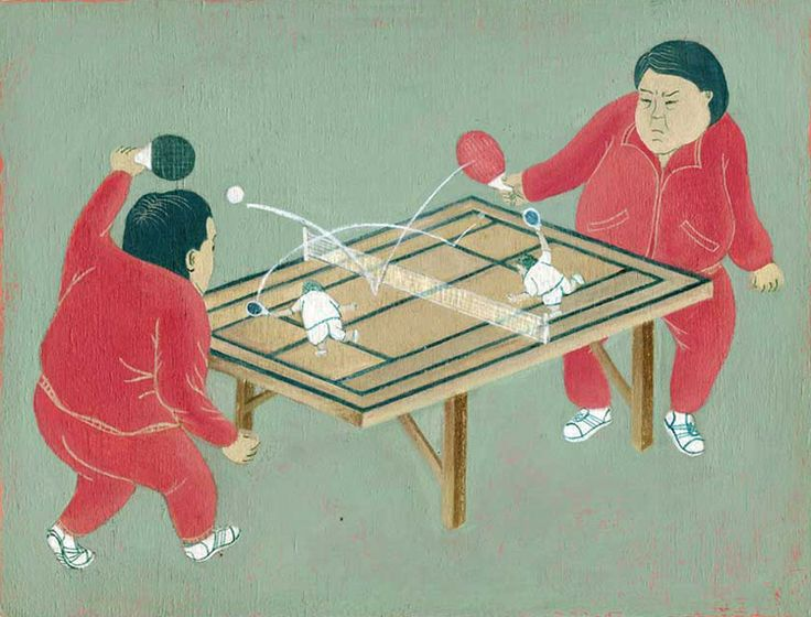 Ching in Chong, Ness Lee  Table tennis  #illustration #Asian