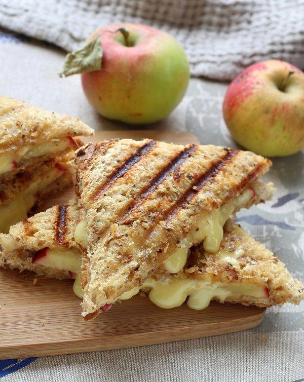 L'association de la pomme et du camembert est à tomber pour ce croque à emporter pour un pique-nique.