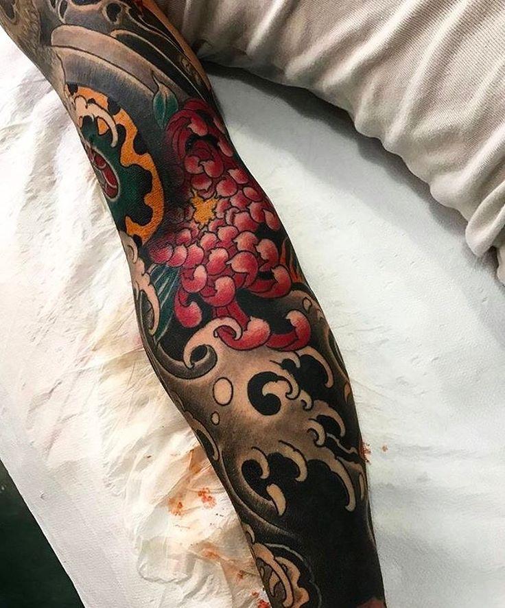 Japanese tattoo sleeve by @arturholykoi