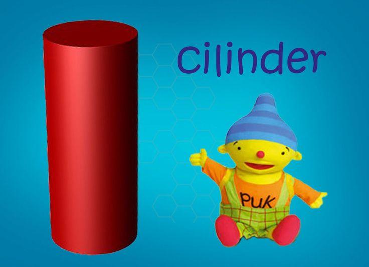Vormen met Puk: cilinder.