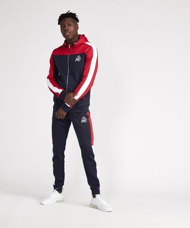 Gym Kings Will Dream Mens Zip Up Tracksuit Top Hoodie Poly Sweatshirt Jacket