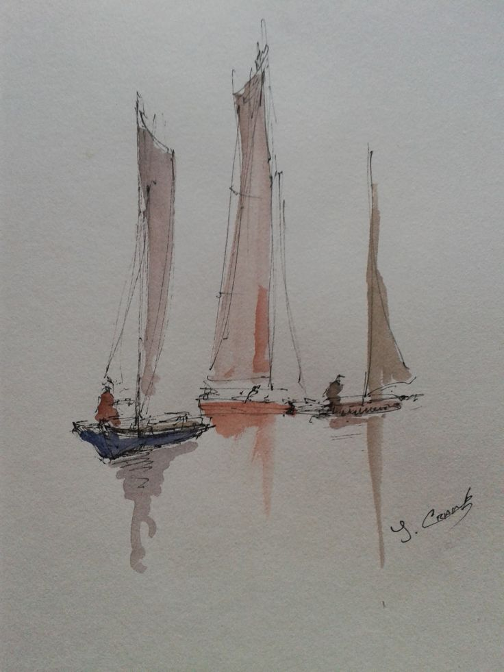 A5 pen and wash. Plein air