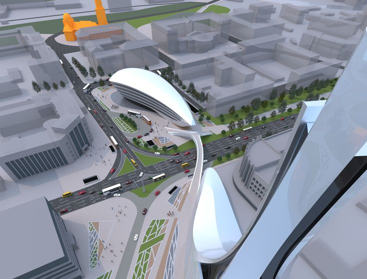 Lipeck downtown reconstruction designed by 4D Architects urban design master plan