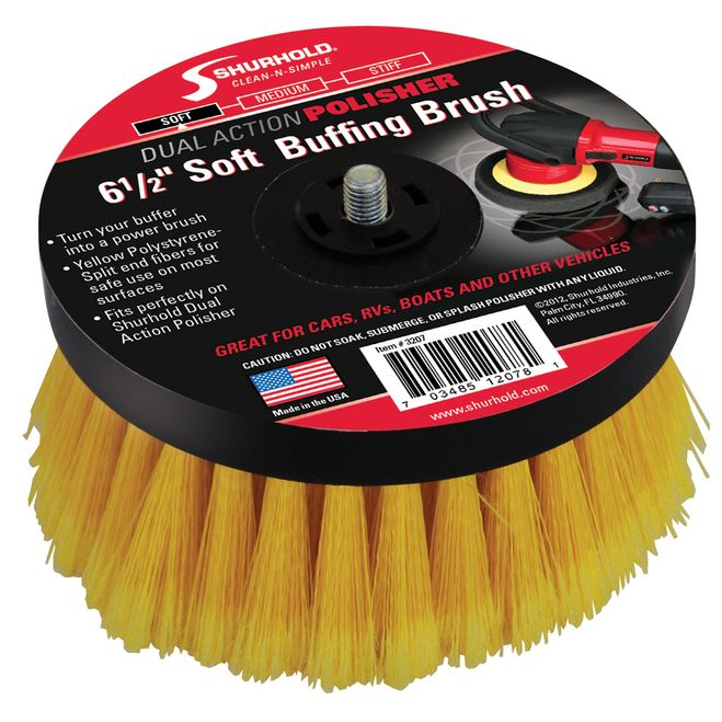 "Shurhold 6-1/2"""" Soft Brush f/Dual Action Polisher [3207]"