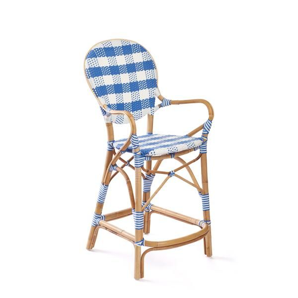 Madeleine Counter Stool In French Blue With Images Counter Stools French Bistro Stools