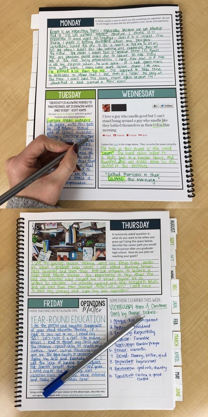 275 Bell ringer prompts for each day of the school year | Middle and high school | Journal entries | Complete portfolio