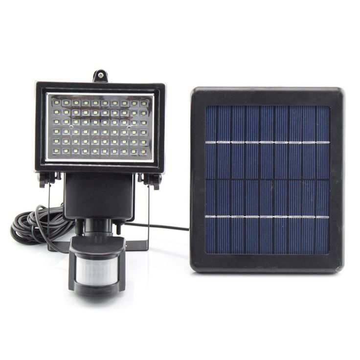 52.43$  Watch more here - http://ai8ro.worlditems.win/all/product.php?id=32802435380 - Bright 60 LEDs Solar Powered Security Lights Waterproof Outdoor Motion Sensor