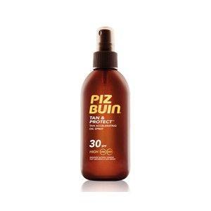 Piz Buin Tan&Protect Óleo Spray Acelerador de Bronzeado , FPS 30, tem uma  rápida absorção, não gordurosa, fácil de aplicar óleo nutre a pele deixando-a suave, com um belo toque brilhante.  Piz Buin Tan&Protect Óleo Spray Acelerador de Bronzeado , é resistente à água e ao suor.