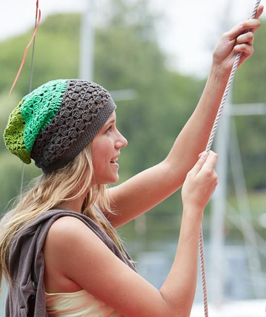 Beanie in Green Shades, S9025 - Free Pattern