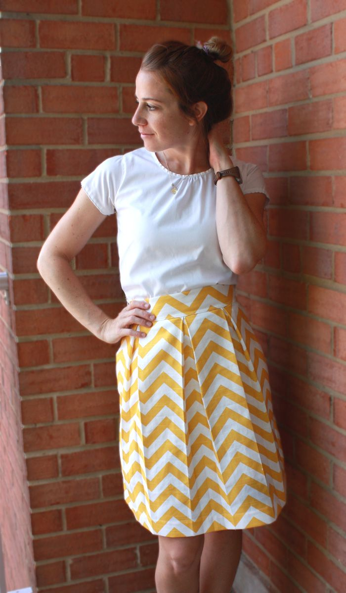 Perfect Pleats Skirt DIY- 9